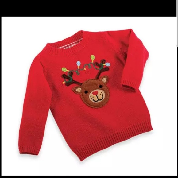 Mud Pie Other - New Mud Pie Baby Embroidered Christmas Sweater
